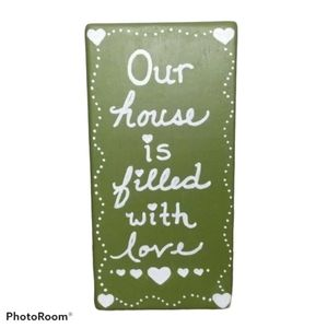 Reversible Wooden Sign With Quotes - Hand Painted